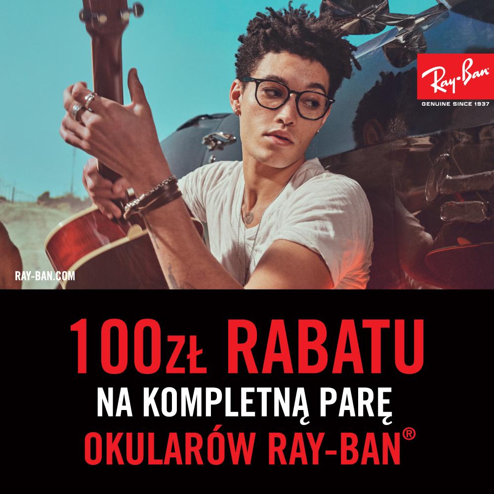100 zł rabatu na okulary Ray-Ban