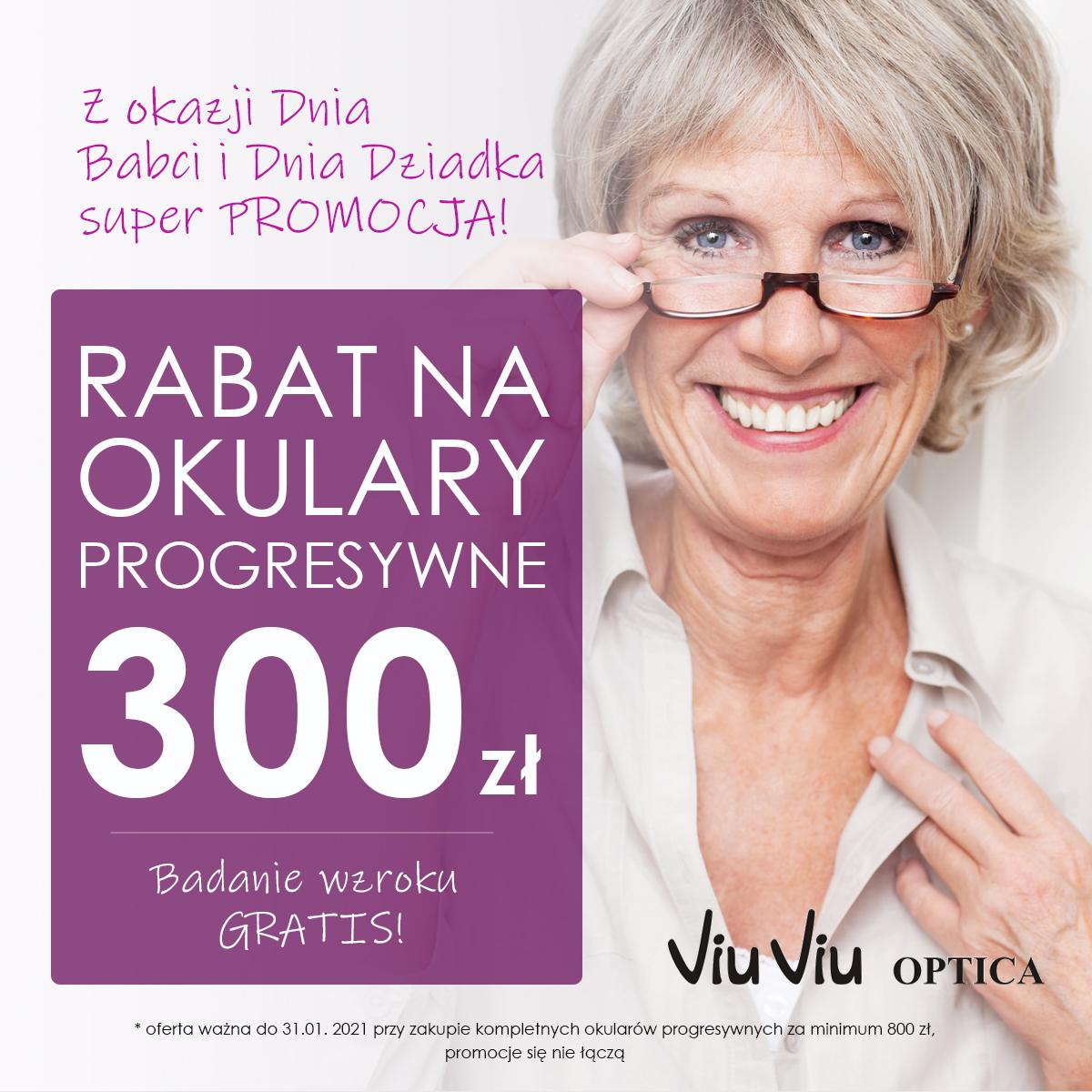300 zł na okulary progresywne